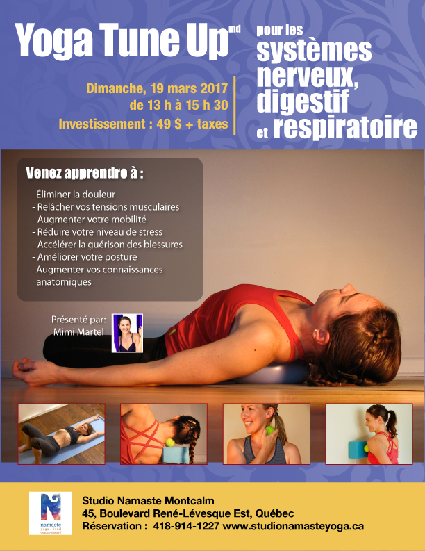 Yoga Tune Up systeme nerveux, digestion, respiration Yoga-balles Coregeous