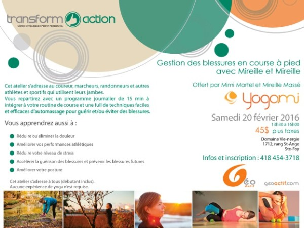 Transform action | Yogami | Gestion des blessures en course à pied